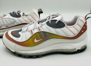 Details about Nike Air Max 98 White Vast Grey Orange CD0132-002 Men's Size  13