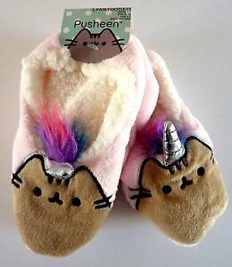 Pusheen-The-Cat-Hausschuhe-Slipper-ABS-Socken-Damen-Pantoffeln-36-37-38-Primark