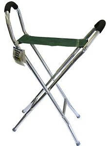 Admirable Details About Leisurewize Lightweight Alloy Frame Travel Folding Walking Aid Stick Stool Chair Creativecarmelina Interior Chair Design Creativecarmelinacom