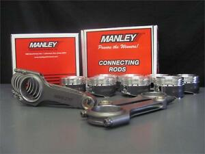 FITS-SUBARU-STI-EJ257-MANLEY-H-BEAM-CONNECTING-RODS-100MM-8-5-1-FORGED-PISTONS