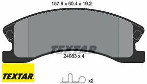 TEXTAR 2408301 Bremsbelagsatz für Scheibenbremse Bremsbelagsatz Jeep