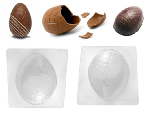 2 Jumbo œuf de Pâques craquelée Chocolat Moule Gâteau Décoration Craft Moule Party Fun