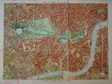 LONDON SCHOOL BOARD MAP OF WESTMINSTER 1893.
