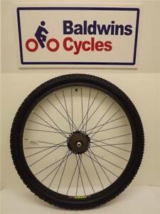 26-034-REAR-DISC-BRAKE-Mountain-Bike-Wheel-BLACK-7-Speed-Freewheel-TYRE-amp-TUBE