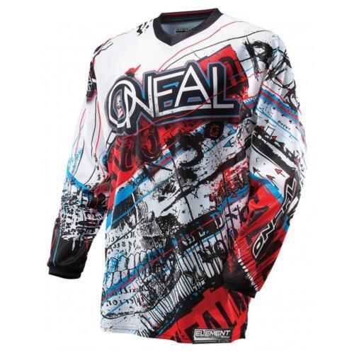 ONeal Jersey ACID blau rot Moto Cross MX Downhill Shirt Motorrad MTB Fahrrad ATV
