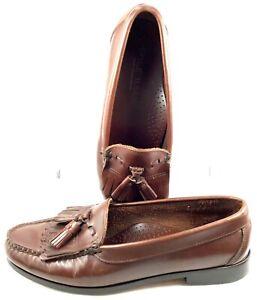 Cole Haan Loafer Mens 8.5 D Brown Tassel Kiltie Handsewn Slip On Dress Shoes USA