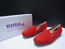 Women/'s Flats Suede Shoes California Red Rhea Footwear