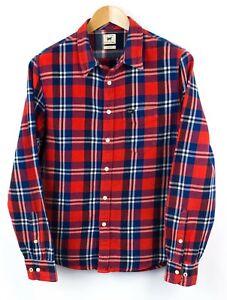 Lee-Hombre-Ajustado-Camisa-Casual-de-Cuadros-Talla-M-NZ193