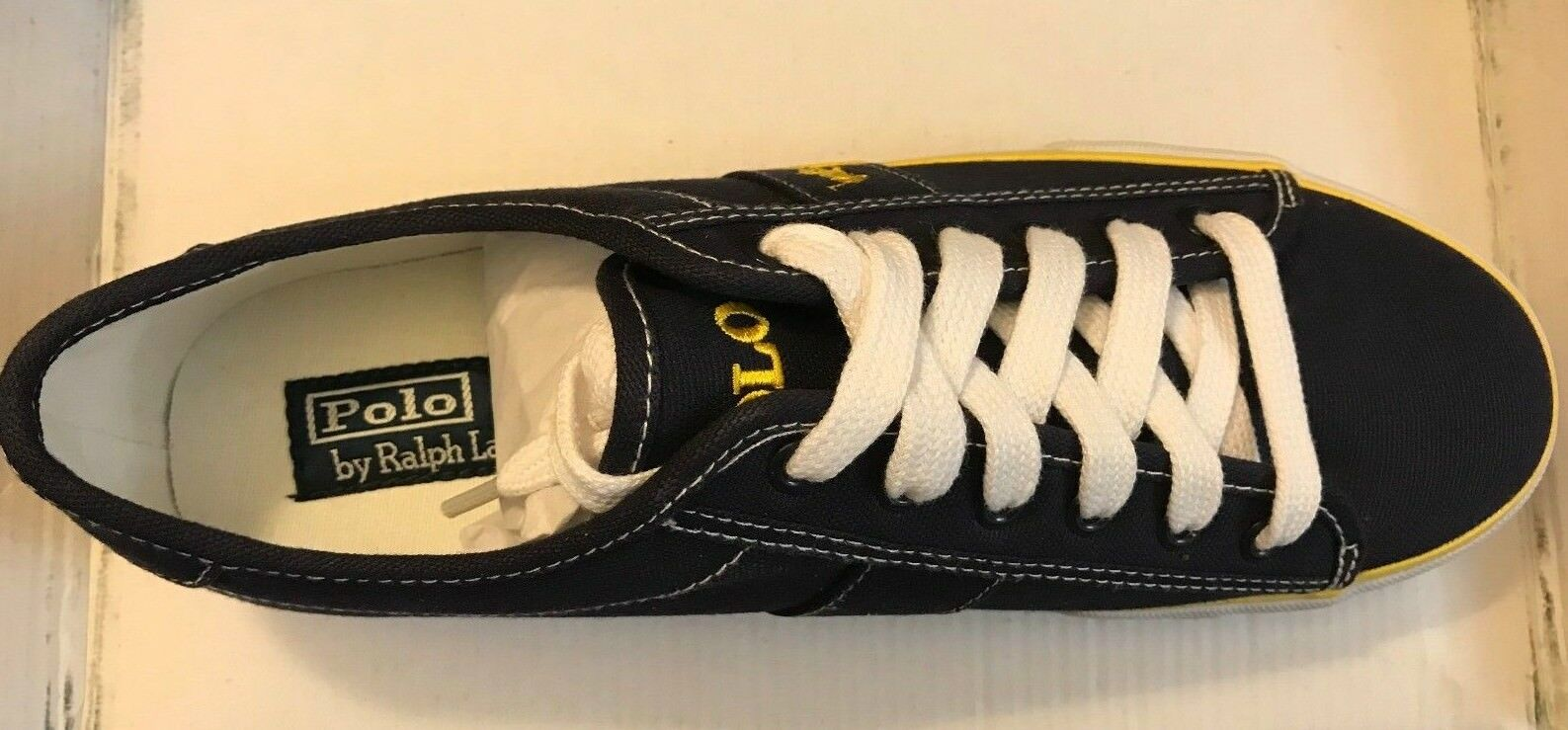POLO RALPH LAUREN TRAINERS SIZE BOX 42/43 BRAND NEW WITH BOX SIZE 5c519e