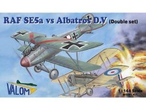 Raf SE5a Vs Albatros D.V (Vier 1/144 Modell Set , Valom 14418)