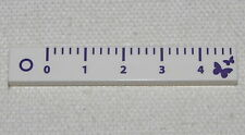 LEGO NEW 1 X 6 DOT TILE FLAT SMOOTH RULER MEASURING PIECE JUST UNDER 2 INCHES