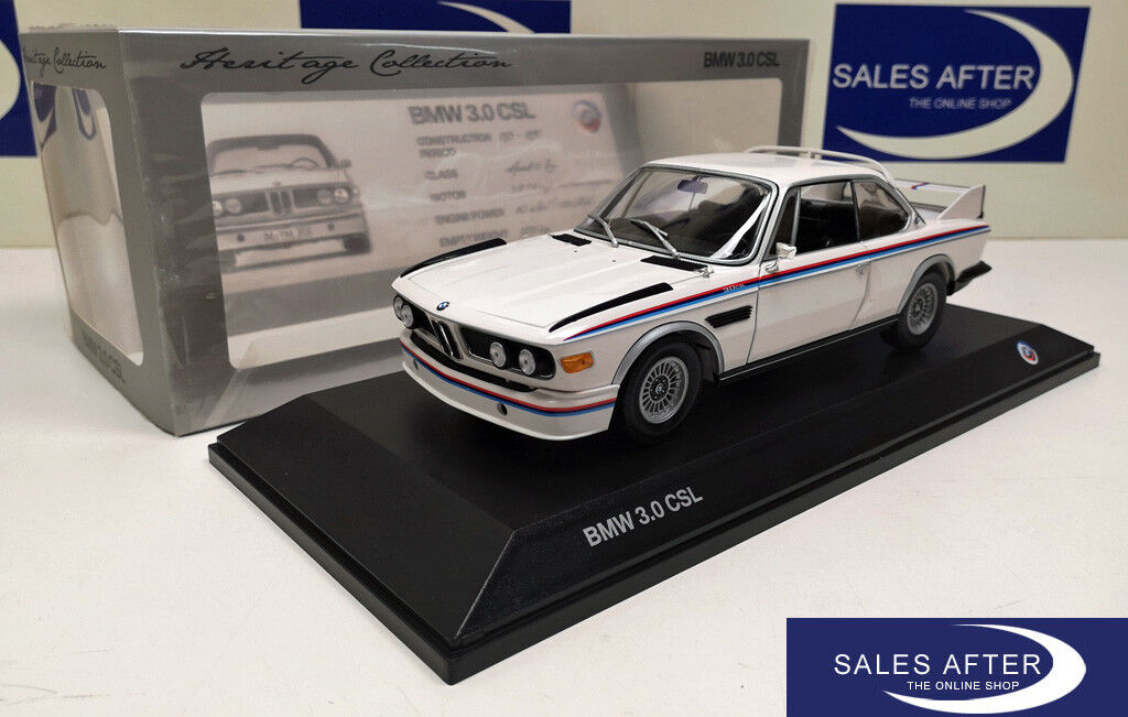 Original bmw miniatura e9 3.0 CSL Heritage Collection 1 18 modelo de coleccionista 3.0csl