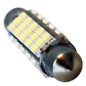 HQRP 41mm White 60-SMD Festoon Light Bulb LED for Dash Board Dome Map Lights
