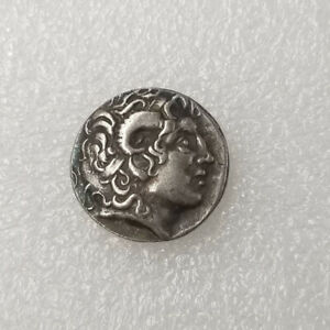 Silver-Plated-Rare-Greek-Coin-Ancient-Alexander-III-The-Great-Greek-Coin
