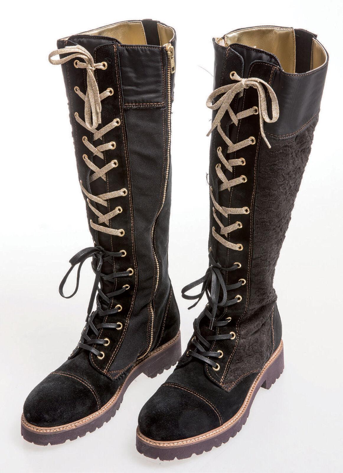 ELISA CAVALETTI Stiefel/Boots/Bikerschuhe Nero Gr. 40 *ECHTLEDER*