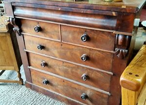 Antique Victorian Large mahogany chest of drawers with secret drawer - <span itemprop='availableAtOrFrom'>Ledbury, United Kingdom</span> - Antique Victorian Large mahogany chest of drawers with secret drawer - Ledbury, United Kingdom