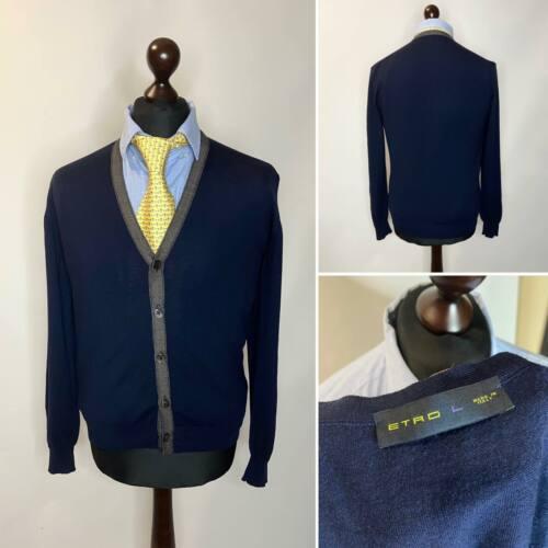Etro Men's Cardigan Sweater Wool Size L