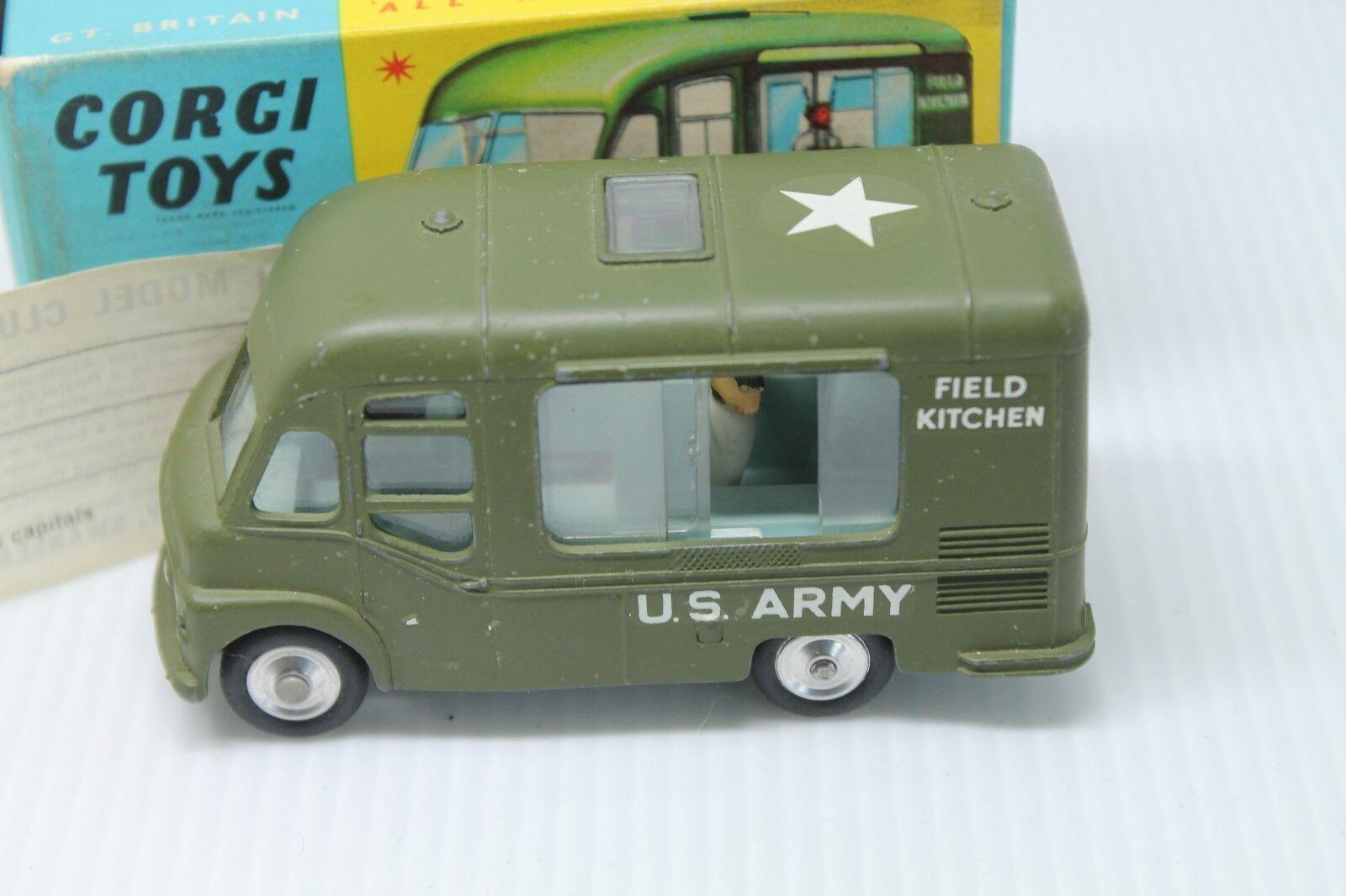 Corgi toys 359  Smiths Karrier Mobile Canteen  U.S Army  1 43