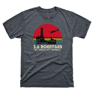 3-6-Roentgen-pas-grand-pas-terrible-Vintage-Men-039-s-T-Shirt-Retro-Chemise-en-coton