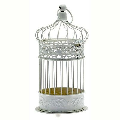 Vintage Style Decorative Metal Cream Bird Cage Wedding Table Centrepiece