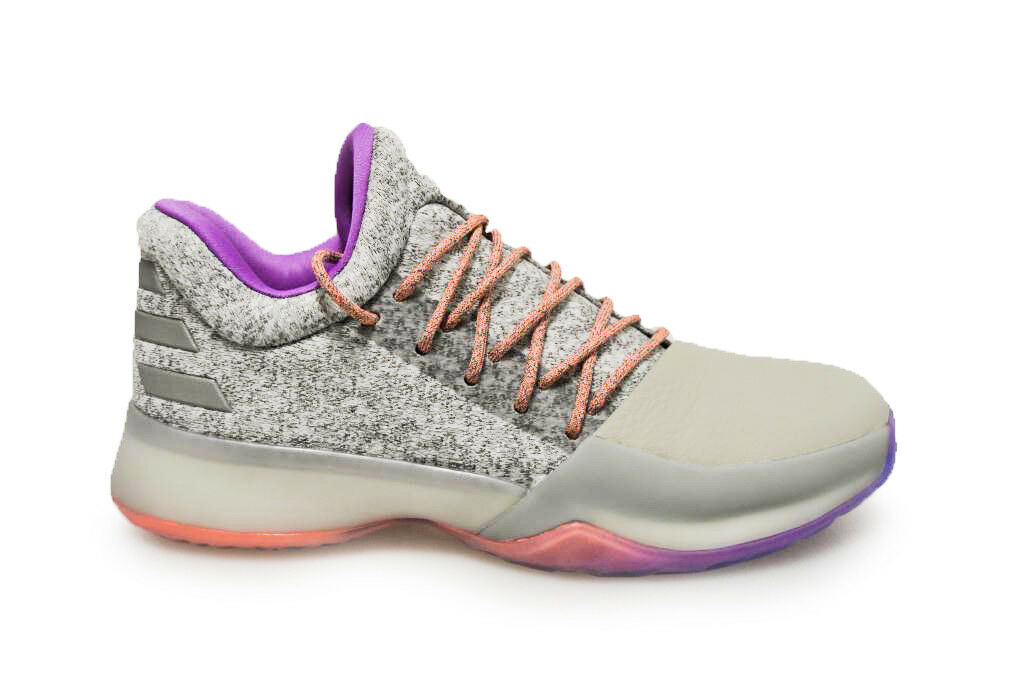 Mens Adidas Harden Vol.1 - BW0549 - Grey Purple Orange Trainers