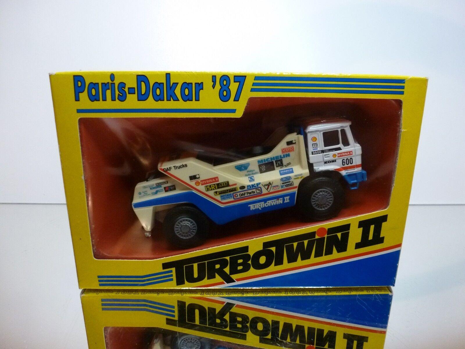 PORTEGIES DAF 3600 TURBOTWIN II - PARIS DAKAR 1987 DE ROOY - 1 50 - GOOD IN BOX