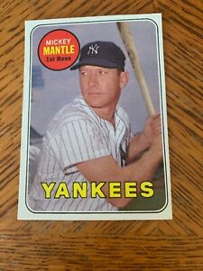 Mickey-Mantle-1969-Topps-card-500-New-York-Yankees-Ex-Mt