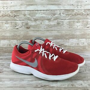 Nike-Revolution-4-Mens-Size-14-Red-White-Athletic-Training-Running-Sneakers