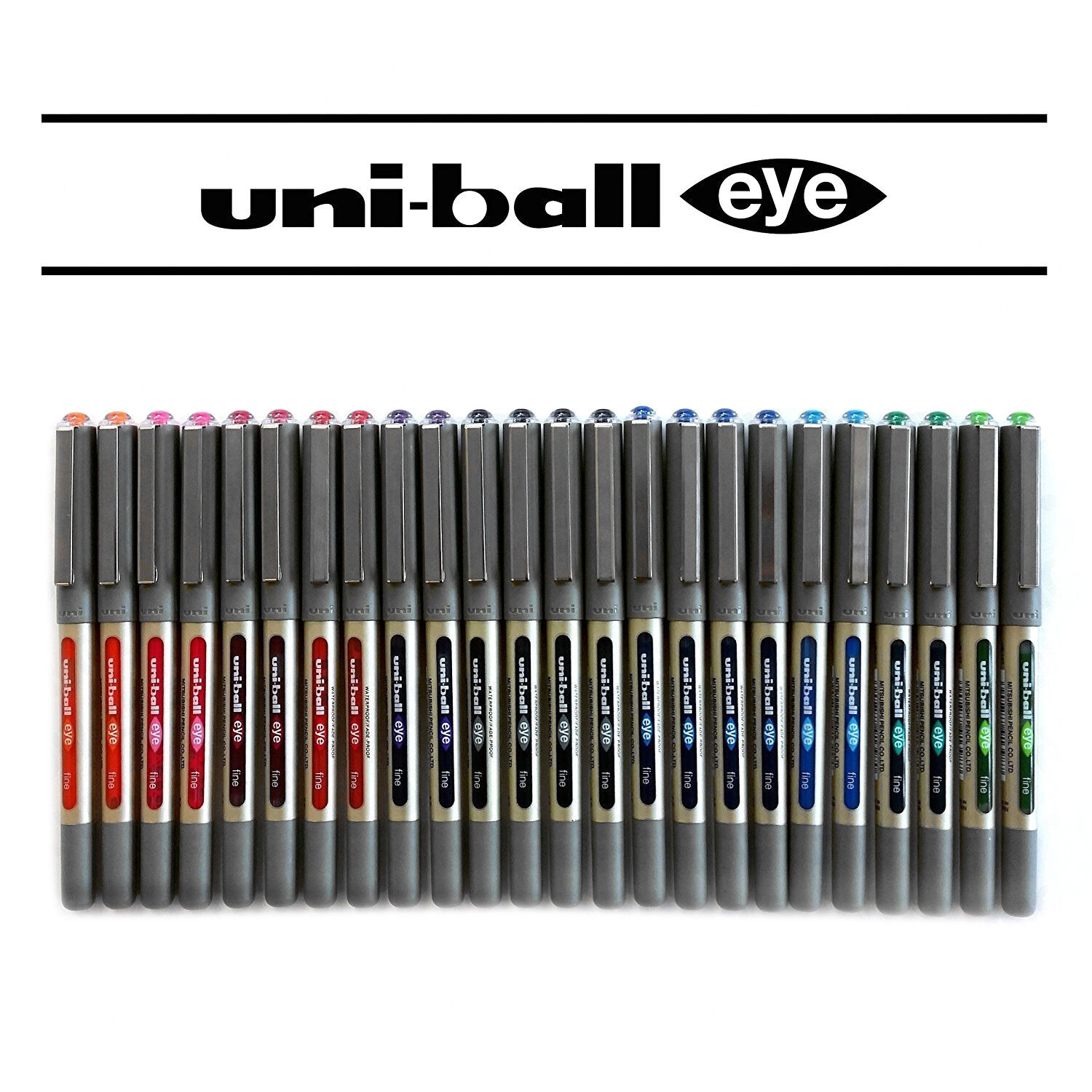 Uniball UB-157 Rollerball Pen Set - 24 Assorted Pen Set - Limited Edition Set