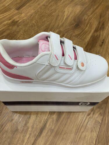 Sergio Tacchini Adore Junior Size 4 White RRP £30 Brand New Last Pairs