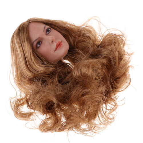 1//6 Scale Female Movie Star Head Sculpt with Hair for 12inch Action Figures