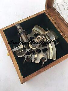 Marine Navy Ship Astrolabe Antique Brass Sextant Maritime Nautical Vintage Gift