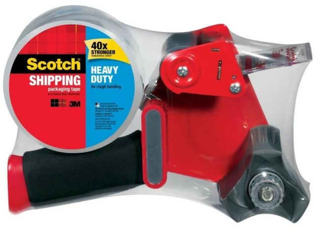 Scotch Tape Dispenser With Heavy Duty Tape 1 Roll