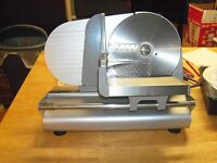 "8.5"" 150W Electric Meat Food Slicer Deli Kitchen Cutter Stainless Steel Blade"