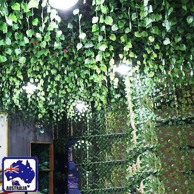 7.9ft 2.4m Brand New Artificial Leaf Ivy Vine Plant Fake Foliage Green HVINE0101