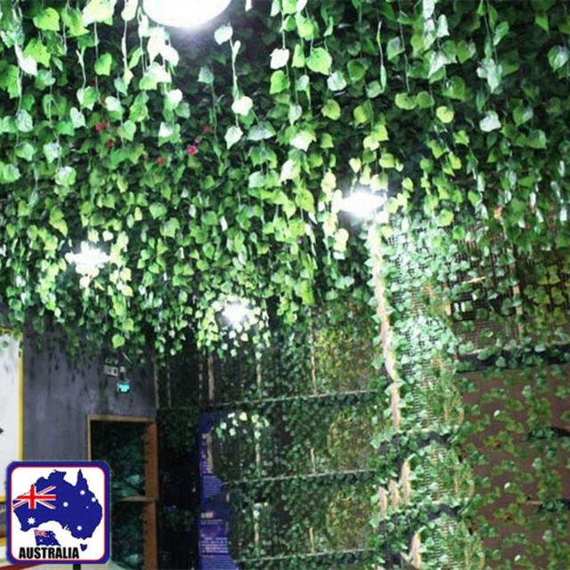 7.9ft 2.4m Brand New Artificial Leaf Ivy Vine Plant Fake Foliage Green HVINE0101