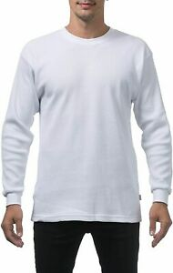 Pro-Club-Heavyweight-Long-Sleeve-Snow-White-Thermal-Size-M-7-XL-Mens-Thermal