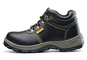 b118d83e6e6 Details about Mens Leather Chukka Welder Safety Shoes Steel Toe Work Shoes  Welding Boots