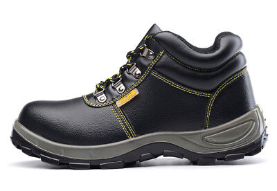 429a690a6a7 Mens Leather Chukka Welder Safety Shoes Steel Toe Work Shoes Welding Boots  | eBay