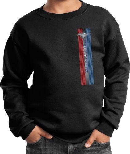 Buy Cool Shirts Kids Ford Mustang Sweatshirt Pony Logo Tri Bar Youth Sweat Shirt