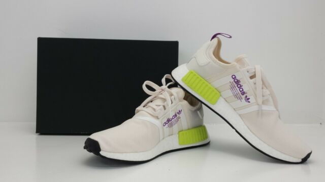 new concept 6f884 beda7 Adidas Mens NMDR1 Runner CWhiteCWhiteYellow D96626 - BRAND NEW IN BOX!