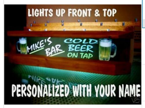 18 BEER TAP HANDLE DISPLAY3 tier neon font Lighted
