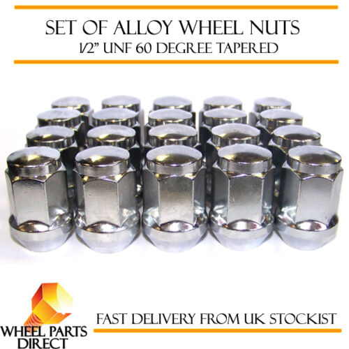 """1//2/"""" UNF Degree Tapered for Ford Bronco 1974-1996 20 Alloy Wheel Nuts"""