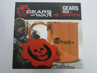 Gears Of War 4: Gears Copper And Stainless Mug & Leather Coaster Set - Brand