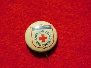 VINTAGE-PINBACK-BUTTON-AMERICAN-JUNIOR-RED-CROSS