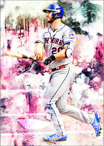 2020-Pete-Alonso-New-York-Mets-5-25-Art-ACEO-Sketch-Print-Card-By-Q