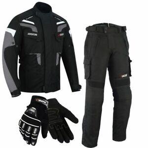 Motorrad-Kombi-Herren-Jacke-und-Hose-Herren-Motorrad-Textil-Kombi-Wasserdicht
