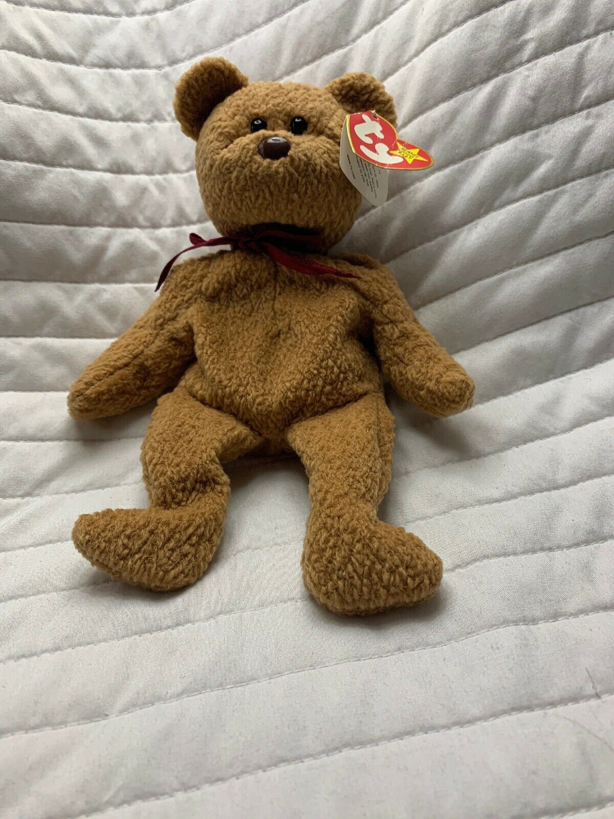 ORIGINAL Beanie Baby Ty CURLY BEAR - RARE