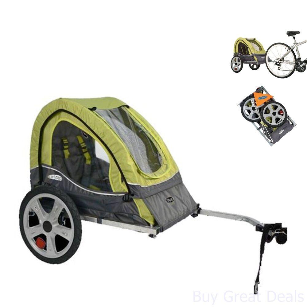 Portable Single Passenger Little Bike Trailer 2 in 1  Canopy w  Bug Screen New  best quality