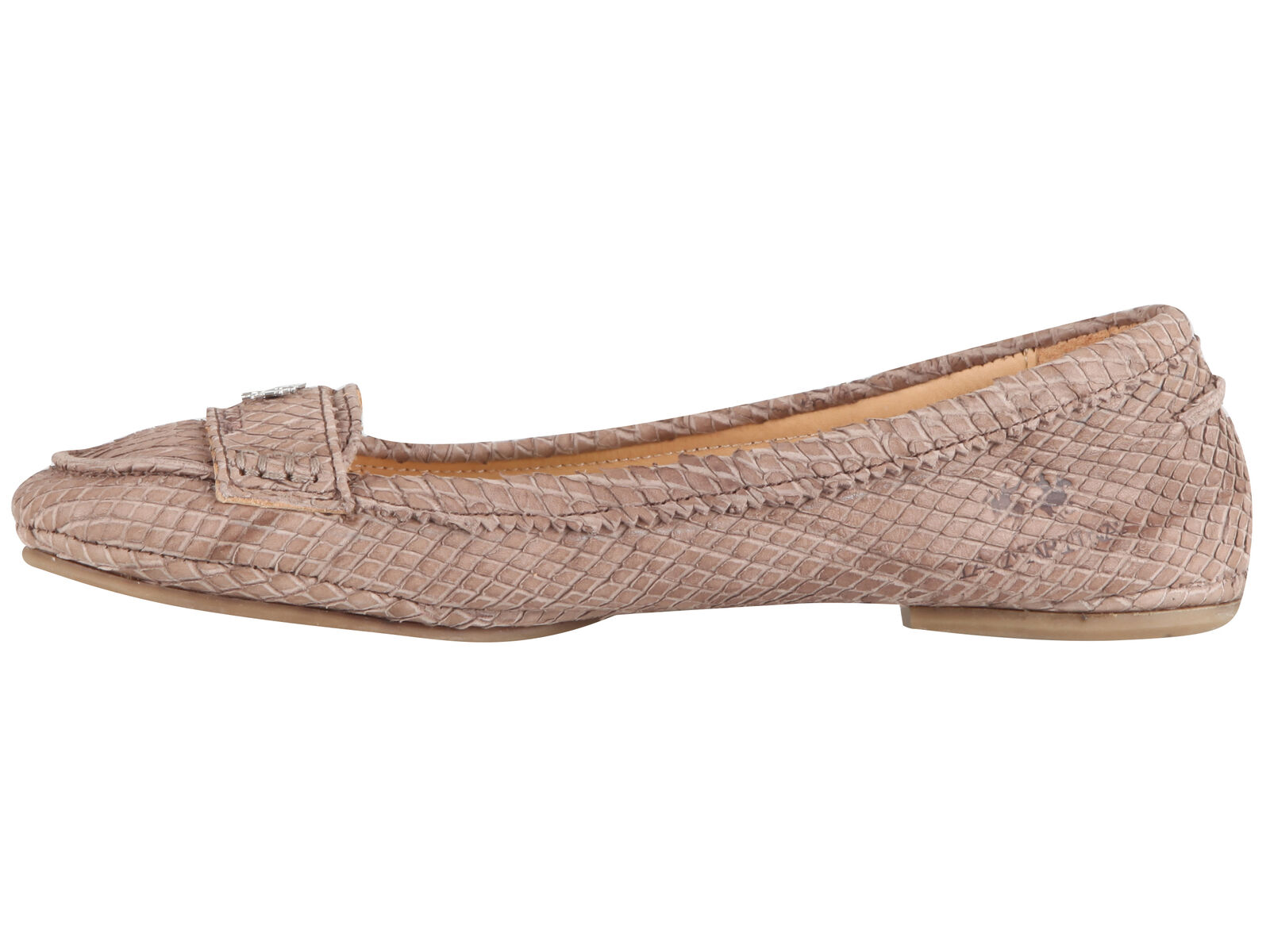 La Martina Polo mujer python snakeskin leather zapatos ballerinas EU 37 UK 4